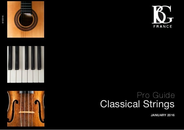 1 Pro Guide Classical Strings JANUARY 2016 8/1/2016