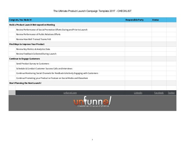 2018 Product Launch Campaign Planner Template Excel Template