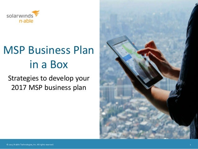 Msp business plan