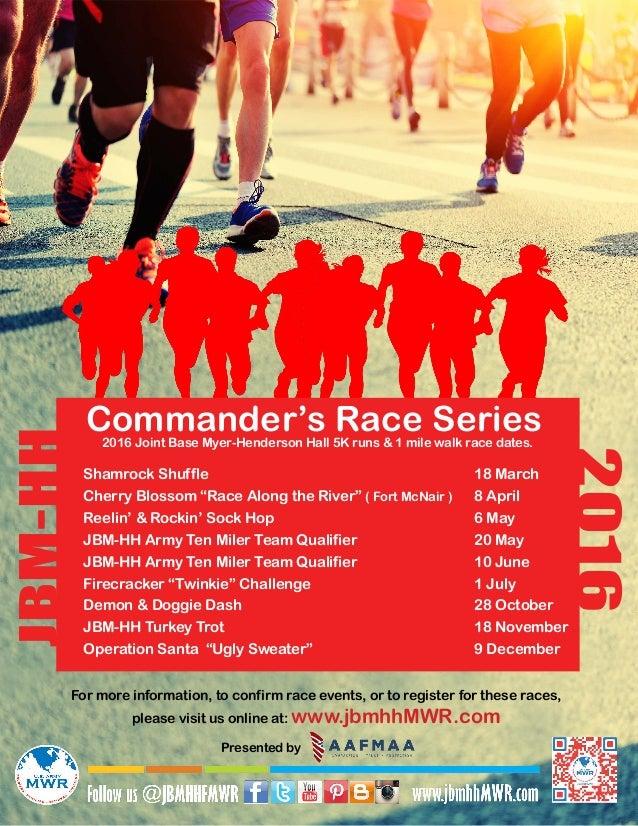 "Shamrock Shuffle Cherry Blossom ""Race Along the River"" ( Fort McNair ) Reelin' & Rockin' Sock Hop  JBM-HH Army Ten ..."