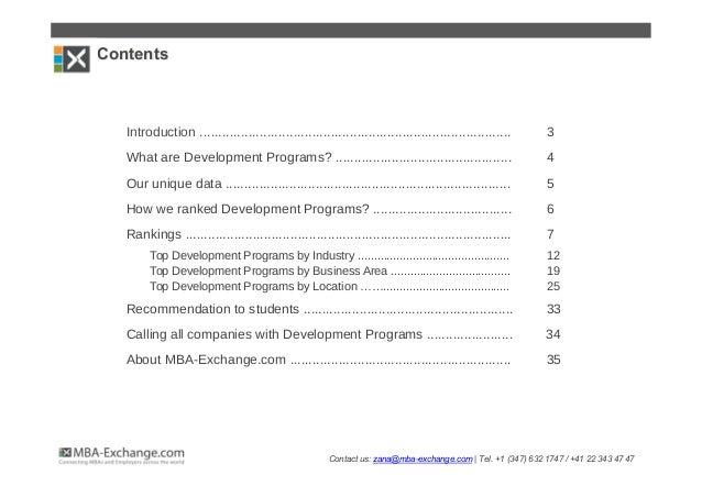 Development Programs gaining momentum among MBA Students Slide 2