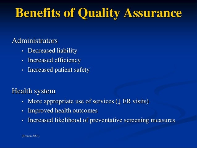discussion on quality assurance Roles for government in evaluation quality assurance: discussion paper we are currently moving our web services and information to canadaca  the treasury board of canada secretariat website will remain available until this move is complete.