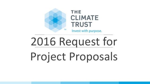 2016 Request for Project Proposals