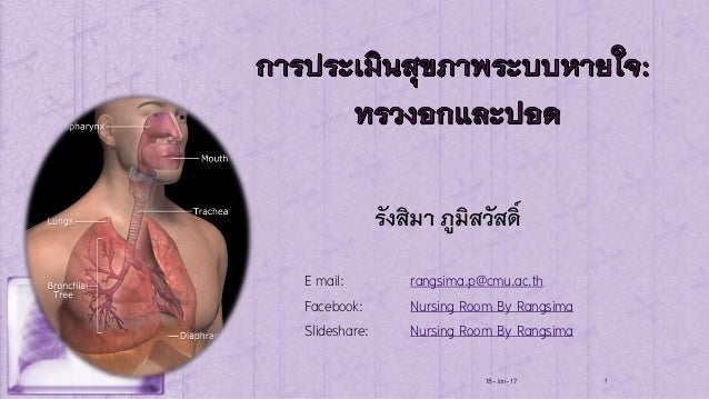 รังสิมา ภูมิสวัสดิ์ 18-Jan-17 1 E mail: rangsima.p@cmu.ac.th Facebook: Nursing Room By Rangsima Slideshare: Nursing Room B...