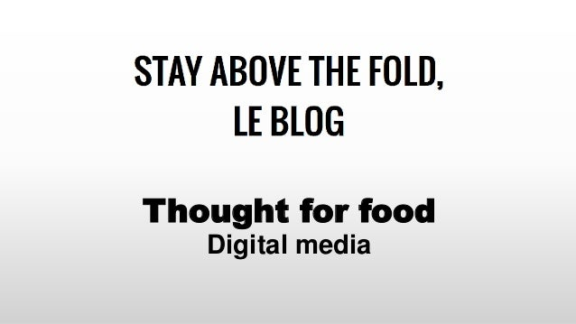 Thought for food Digital media