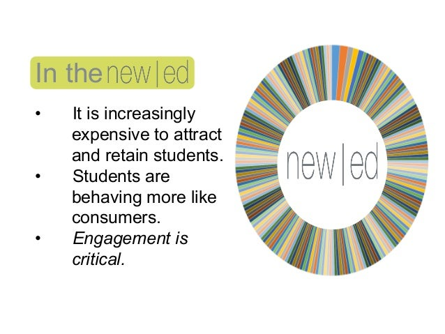 In the • It is increasingly expensive to attract and retain students. • Students are behaving more like consumers. • En...
