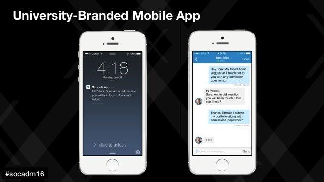 #socadm15 University-Branded Mobile App #socadm16!
