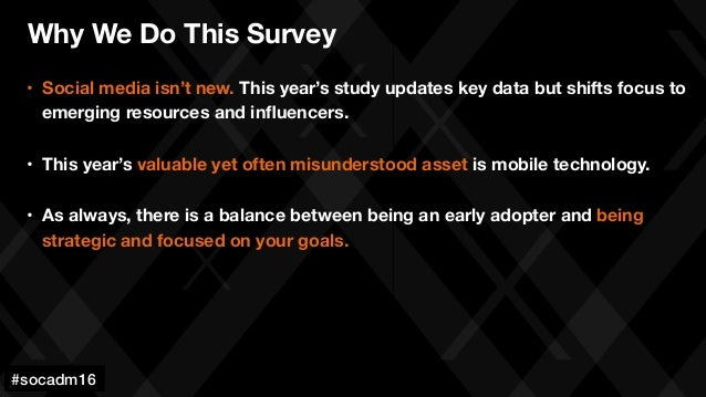 #socadm15 • Social media isn't new. This year's study updates key data but shifts focus to emerging resources and influenc...
