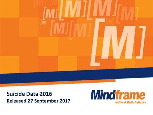 Suicide Data 2016 Released 27 September 2017