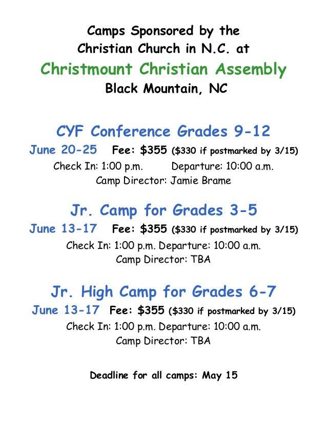 2016 summer camp rental information booklet