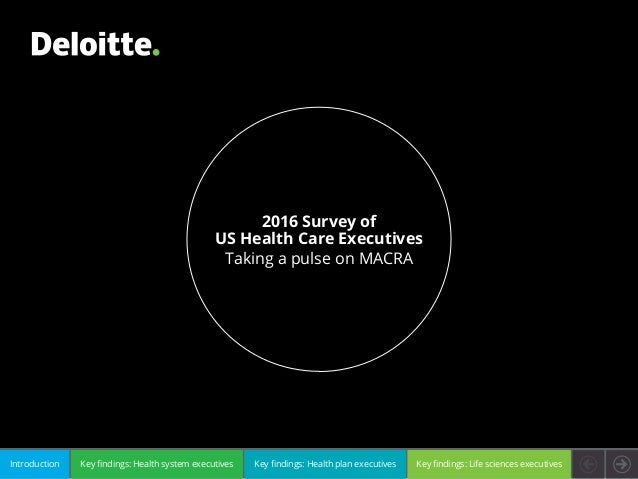 Key findings: Health system executivesIntroduction Key findings: Health plan executives Key findings: Life sciences execut...