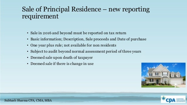 Principal Residence To Rental Property Canada