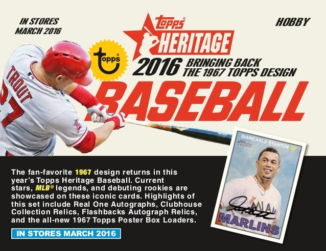 2016 Topps Heritage Baseball New Product Preview