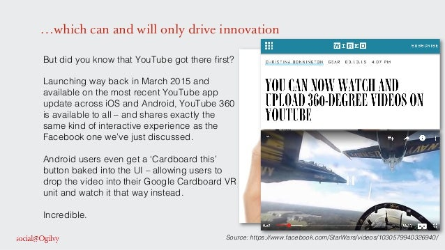 …which can and will only drive innovation But did you know that YouTube got there first? ! ! Launching way back in March 20...