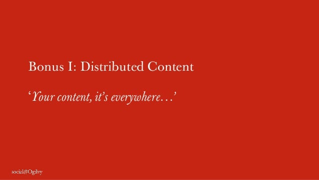Bonus I: Distributed Content 'Your content, it's everywhere…'