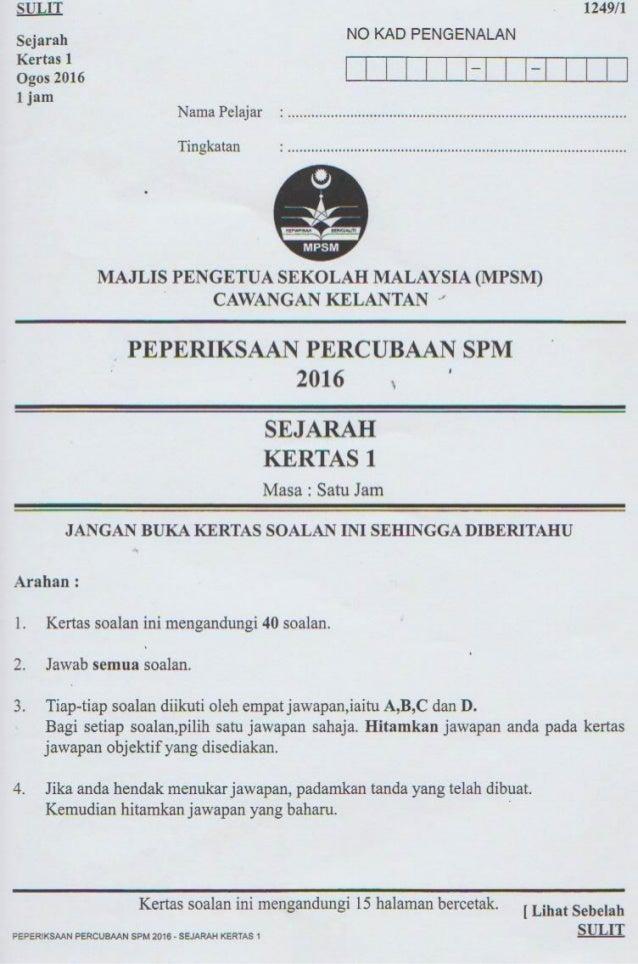Trial Kelantan 2016. Soalan K1