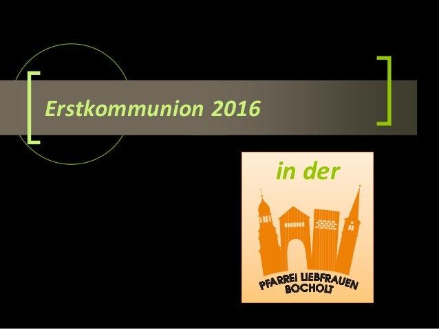 Erstkommunion 2016 in der