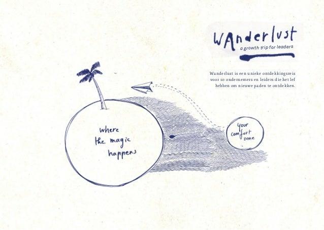 a growth trip for leaders Wanderlust is een unieke ontdekkingsreis voor 10 ondernemers en leiders die het lef hebben om ni...