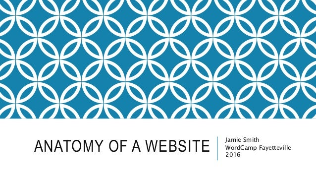 ANATOMY OF A WEBSITE Jamie Smith WordCamp Fayetteville 2016