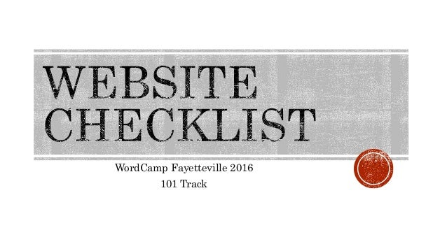 WordCamp Fayetteville 2016 101 Track