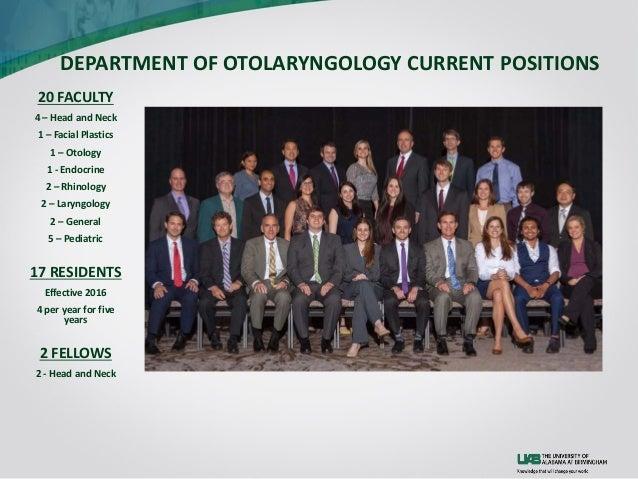 UAB Otolaryngology Residency Program 2016