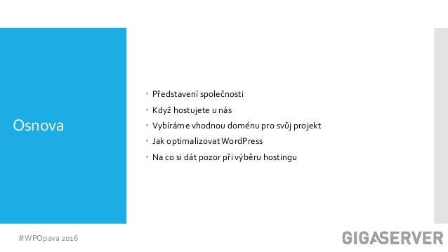 WordPress ve světě hostingu, Václav Peter Slide 2