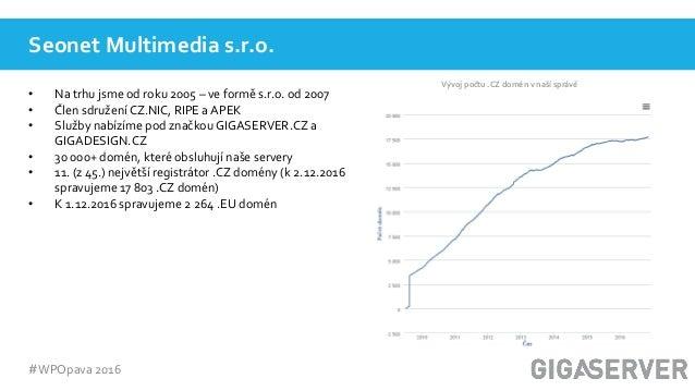WordPress ve světě hostingu, Václav Peter Slide 3