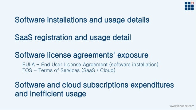 Binadox Software And Saas License Compliance Presentation