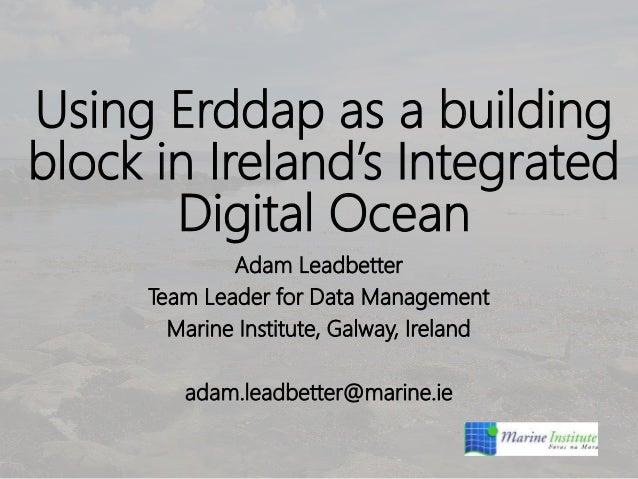 Using Erddap as a building block in Ireland's Integrated Digital Ocean Adam Leadbetter Team Leader for Data Management Mar...