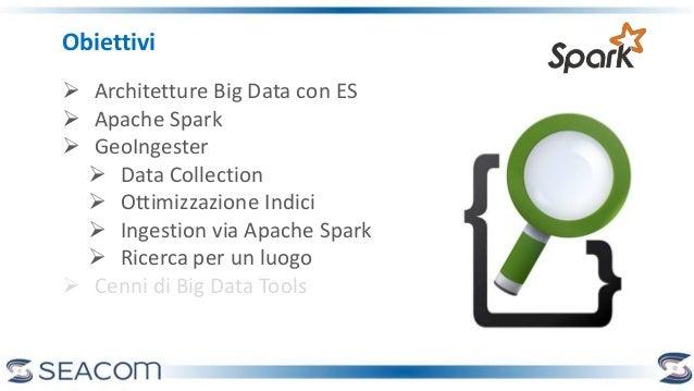 Obiettivi  Architetture Big Data con ES  Apache Spark  GeoIngester  Data Collection  Ottimizzazione Indici  Ingestio...