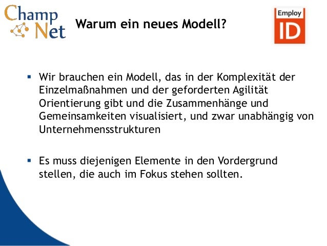10 Warum ein neues Modell?  Wir brauchen ein Modell, das in der Komplexität der Einzelmaßnahmen und der geforderten Agili...