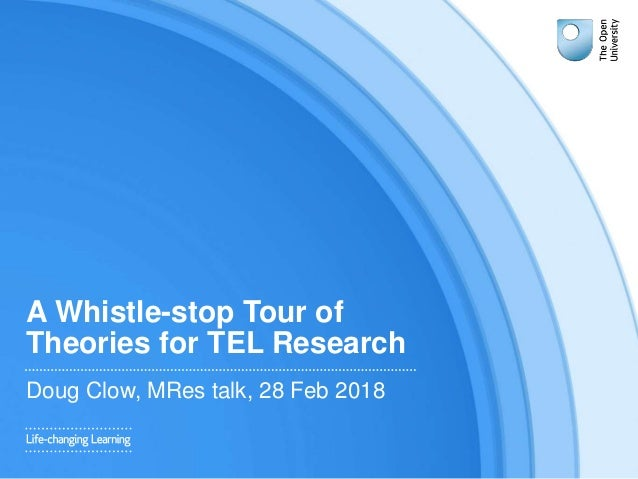 A Whistle-stop Tour of Theories for TEL Research Doug Clow, MRes talk, 28 Feb 2018