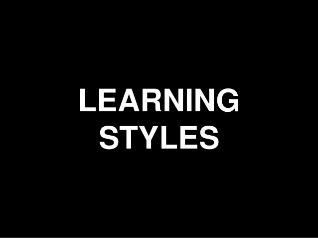 15 LEARNING STYLES