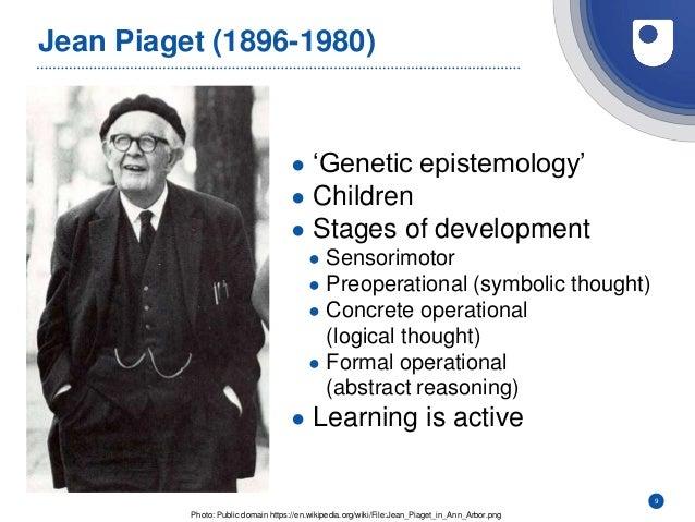 Jean Piaget (1896-1980) ● 'Genetic epistemology' ● Children ● Stages of development ● Sensorimotor ● Preoperational (symbo...
