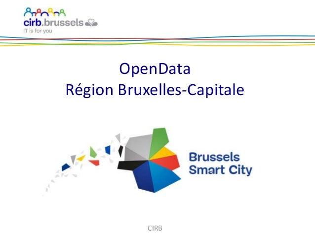 OpenData Région Bruxelles-Capitale CIRB