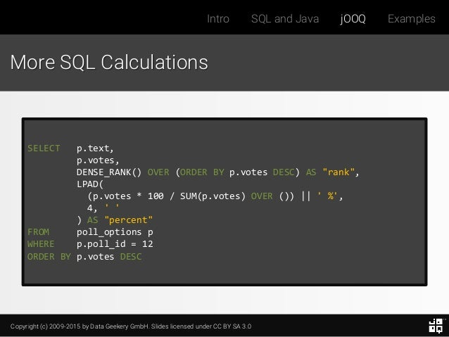 Best Way to Write SQL in Java