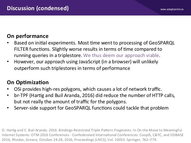 www.adaptcentre.ieDiscussion(condensed) Onperformance • BasedoniniXalexperiments.MostXmewenttoprocessingofG...