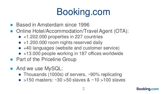 How Booking.com avoids and deals with replication lag Slide 2
