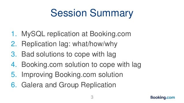 How Booking.com avoids and deals with replication lag Slide 3