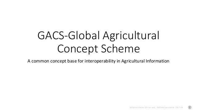 Johannes Keizer (Dr.rer.nat), GODAN Secretariat 2017-04 GACS-Global Agricultural Concept Scheme A common concept base for ...