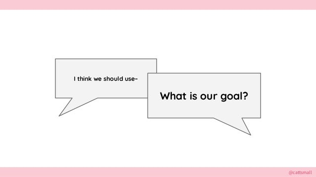 @cattsmall@cattsmall I think we should use– What is our goal?