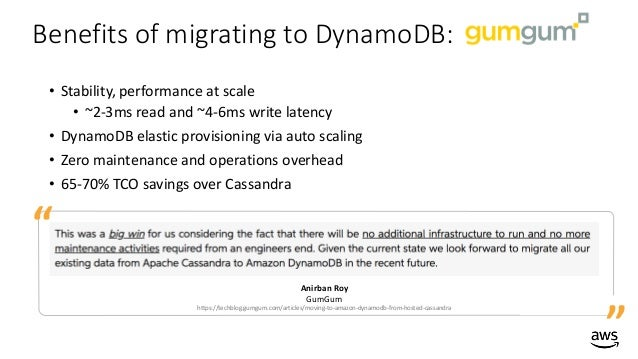 How to Migrate from Cassandra to Amazon DynamoDB - AWS Online Tech Ta…