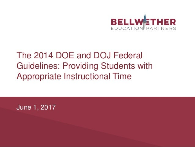 Federal Guidance On Students With >> Providing Students With Appropriate Instructional Time