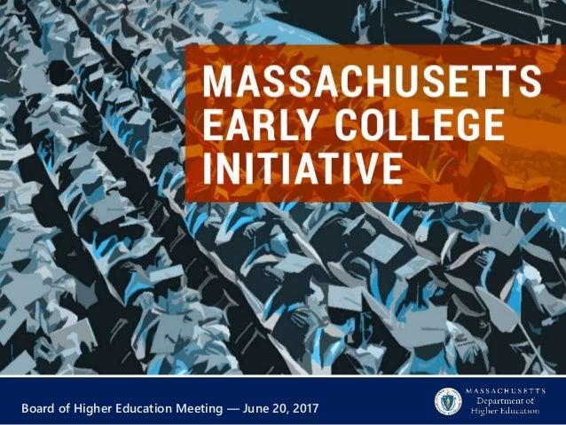 Board of Higher Education Meeting — June 20, 2017