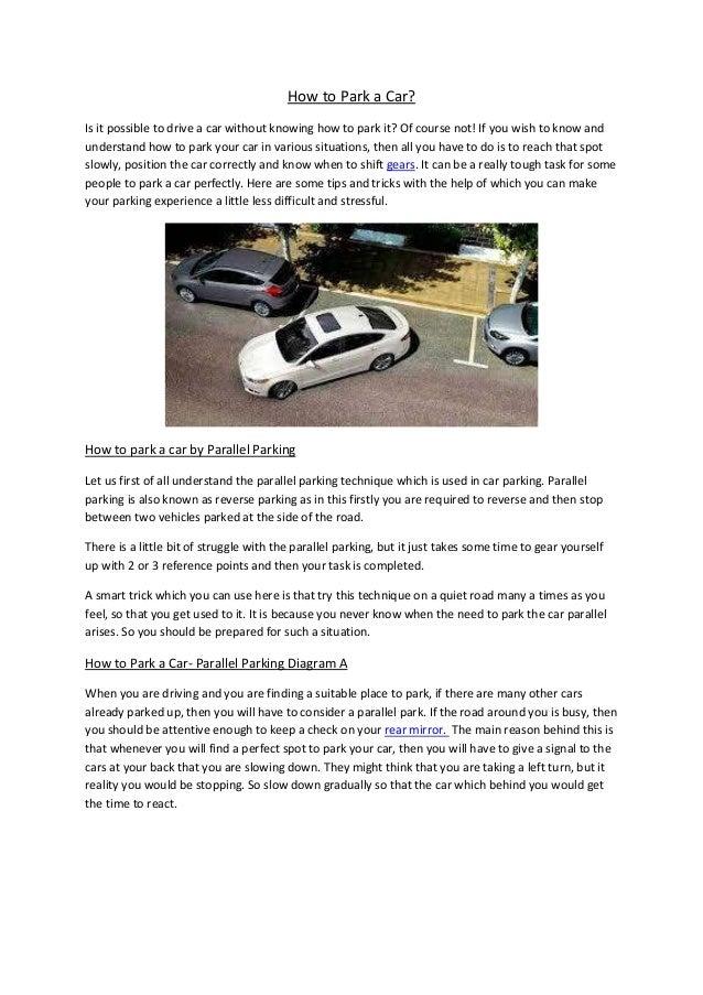 Partsavatar Toronto Auto Body Parts How To Park A Car