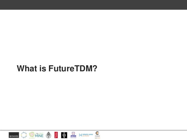 Supporting the uptake of TDM Slide 2