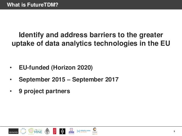 Supporting the uptake of TDM Slide 3