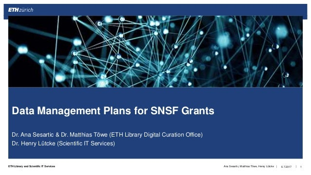 ||ETH Library and Scientific IT Services Dr. Ana Sesartic & Dr. Matthias Töwe (ETH Library Digital Curation Office) Dr. He...
