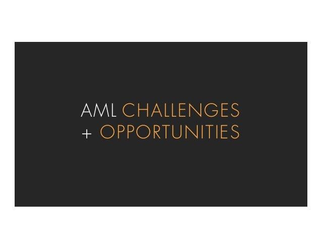 AML CHALLENGES + OPPORTUNITIES