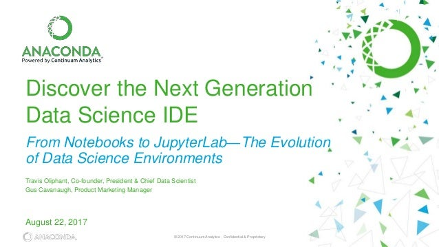 Discover the Next Generation Data Science IDE: From Notebooks to Jupy…